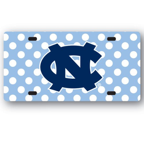 Tar Heels Logo License Plate (NCAA North carolina Tar Heels License Plate Dots)