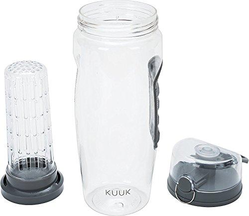 Kuuk Fruchtschorle Wasserflasche zum Radfahren, Wandern, Fitnessraum - BPA Frei – 900 ml
