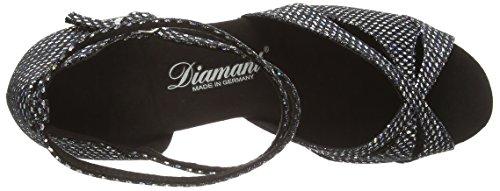 Nero schwarz silber Damen amp; Da Diamant Scarpe Standard Donna Tanzschuhe 077 Latein Ballo 183 Latein 141 HccO6B