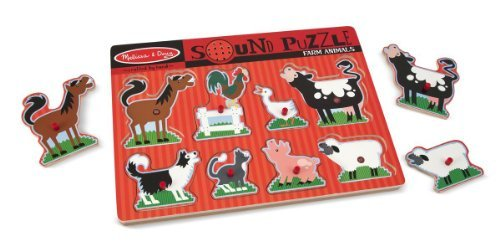 Melissa & Doug Farm Theme Sound Puzzle + FREE Scratch Art Mini-Pad Bundle [07269]