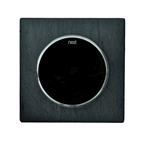 Nest WallPlates (5 Inch square, Charcoal Gray) (Copper Square Trim Frame)