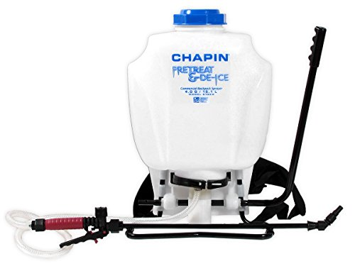 Chapin 61808 Liquid De-Ice / Ice Melt Backpack Sprayer - 4 US Gallon Tank Capacity by Chapin International