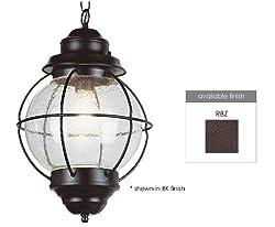 "Trans Globe Lighting 69906 Rbz Outdoor Catalina 19"" Hanging Lantern, Rustic Bronze"