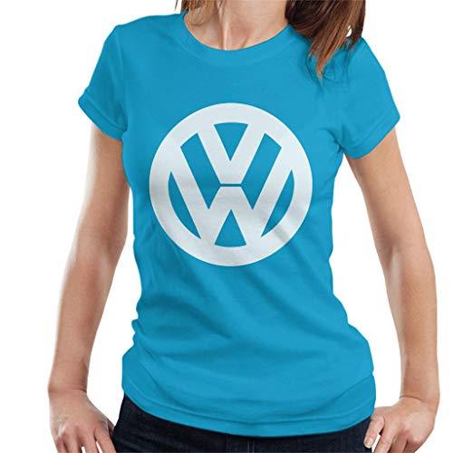 Volkswagen Shirt Classic Logo Official T VW Women's Sapphire White BHFwdq