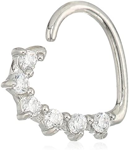 Amazon Com Body Candy Women S 16 Gauge Clear Heart Right Closure