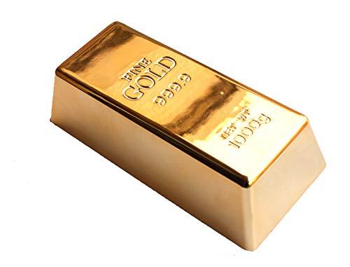 MosBug 1kg 35oz Fake Gold Bar Bullion Door Stop/Paperweight CAS (1)