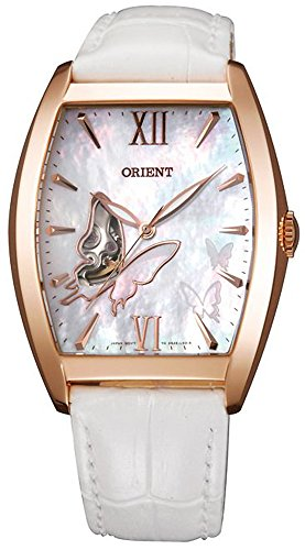 """ORIENT """"Butterfly"""" Fashionable Automatic Pearl White Watch DBAE002W"""