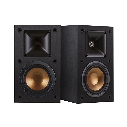 Klipsch R-14M 4-Inch Reference Bookshelf Speakers (Pair, Black) - 0.1% Suspension
