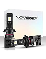 NOVSIGHT LED Headlight Bulbs 55W/Pair 10000LM 6000K Car Replacement Lights of Halogen and Xenon Kit 2 Lamps