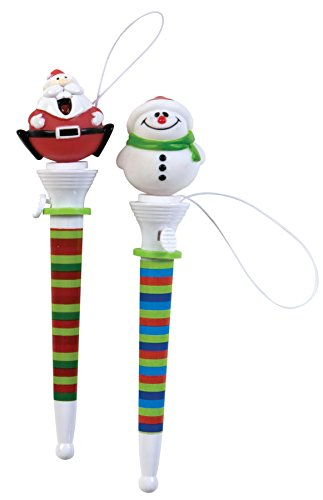 Holiday Pop Out Pens Santa and Snowman; One of Each