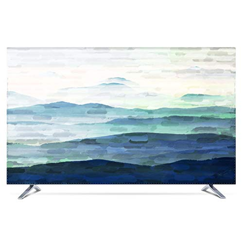 Tv cover Painting Landscape Painting Nordic LCD TV Dust Cover Cloth Cover TINGTING-protective sleeves (Color : Dawn…
