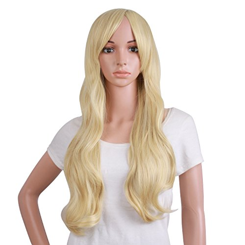 Kill Bill Wig (MapofBeauty 50cm/ 20 inch Long Curly Natural Fashion Beautiful Wig)