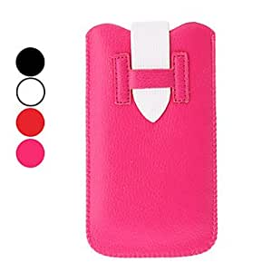 Special Design Leather Protective Pouches for iPhone 5/5S (Assorted Colors) --- COLOR:White