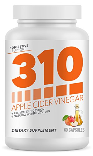 Organic Apple Cider Vinegar Capsules by 310 Nutrition – ACV Capsules Support Healthy Digestion | Supplements Weight Loss Goals, Digestion & Detox Support – 60 Capsules Review