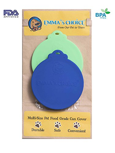 - Emma's Choice | 2 Pack | Multi-Size FDA Approved Food Grade Silicone Can Covers (Blue/Green) | Fits All 3 Sizes USA Pet and People Food Cans