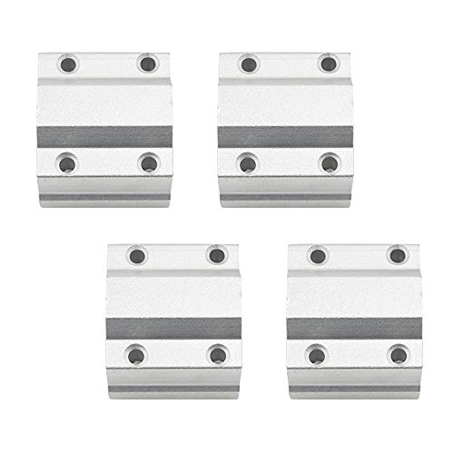 TUOREN Bushing Linear Roller Bearing Slide Block Linear Motion Ball Bearing SCS8UU Slide Unit (4 Pcs) ()