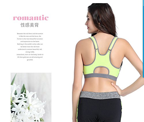 Women's Sports Bras Gym Yoga Top Zipper Front Breathable Bras Double Wear BrasM, blue) by CHRISTYZHANG (Image #5)