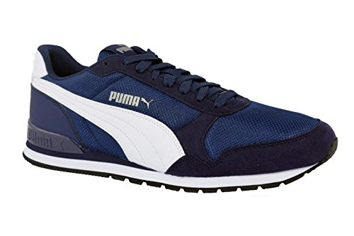 Puma Scarpe Uomo Sneakers St Runner in Tela Blu 366811-03