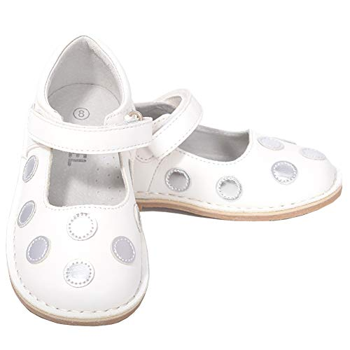 - L'Amour White Silver Dot Mary Jane Dress Shoe Baby Girl 4