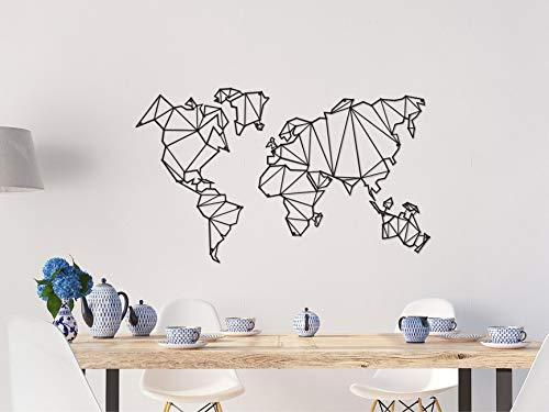 Taglia Unica Arte Casa Decoro in Metallo Planisfero Homemania Decorazione da Parete Mappamondo Nero Muro per Soggiorno Ufficio