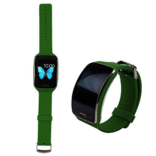 Tonsee Luxury Replacement Watch Wrist Strap Wristband for Samsung Galaxy Gear R750 - Green