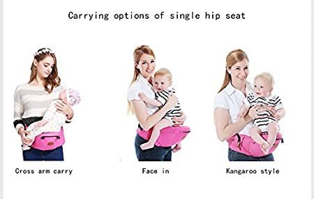 ThreeH Baby Hipseat Carrier Infant Backpack Waist Stool Outdoor Toddler Seat BC10,Red H-BC10Red