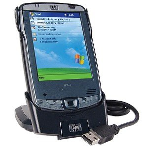 HP iPAQ hx2410 Pocket PC with USB Cradle Batteries and More!