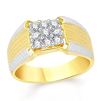 d823f3682af45 Buy Meenaz Mens Jewellery Valentine Gifts Gold Diamond Ring for Men ...