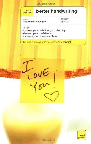 Teach Yourself Better Handwriting by Rosemary Sassoon (2003-01-14)