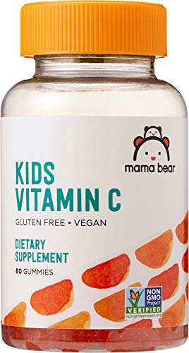 Amazon Brand - Mama Bear Vegan Kids Vitamin C, 60 Gummies, 125 mg Vitamin C per Gummy