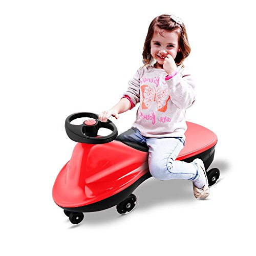 Price comparison product image Mewalker Plasma Car Ride on Car, BPA-free Plastic Plasma Car Vehicle for Kids (US Stock) (Red)