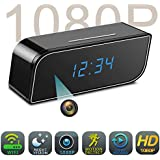 Spy Camera, HD 1080P Wifi Camera in Clock Camera with Motion Detection Night Vision Realtime Video for Home Security, Black