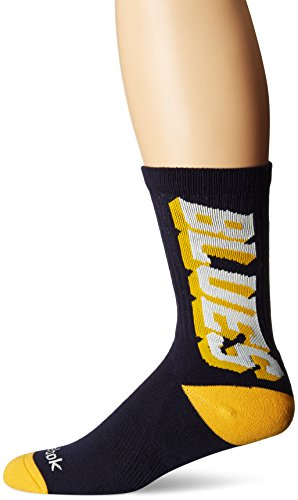 Buffalo Sabres Shoes (NHL Buffalo Sabres Men's SP17 Vertical Name Crew Socks, Yellow, Size 9-11)