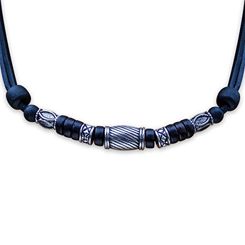 HANA LIMA ® Halskette ohne Anhänger Surferkette Lederkette Herrenkette