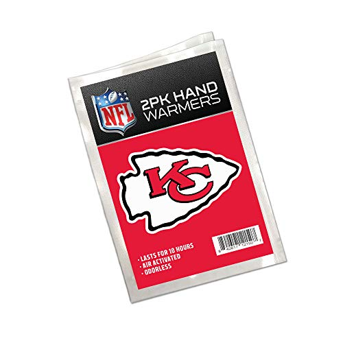 Worthy Promo NFL Kansas City Chiefs Winter Hand Warmers 20-Pack (10 Pair). Long Lasting 10-Hour Warmth, Air Activated, Odorless. Gifts for Men, Women. Tailgating Accessories, Stocking -