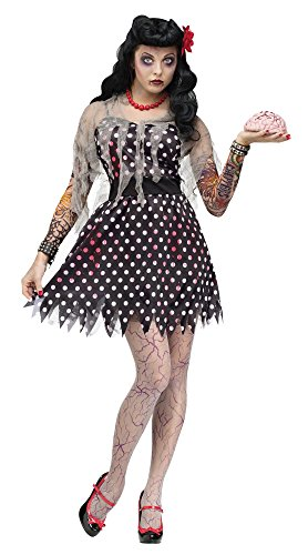 Fun World Adult Rockabilly Zombie Costume - S/M