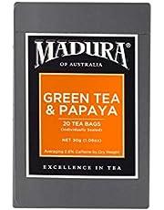 Madura Green and Papaya 20 Enveloped Tea Bags, 30 g