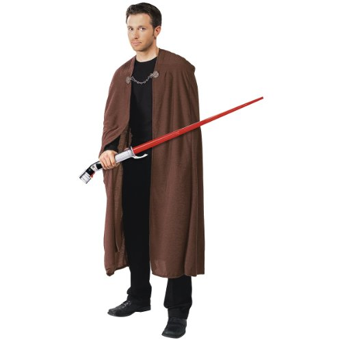 Rubie's Costume Men's Star Wars Deluxe Adult Count Dooku Robe with Clasp, Brown, (Star Wars Sith Lord Costume)
