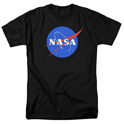 Popfunk NASA Logo Space T Shirt & Exclusive Stickers (XX-Large) Black