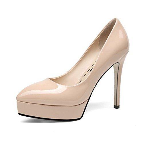 Cuero Fiesta Plataforma De Cordones Ocre Zapatos Amarillo Con Mujer Tacón negro Para Hope La Alto Ochre Boda Corte qnRI7SBvxw