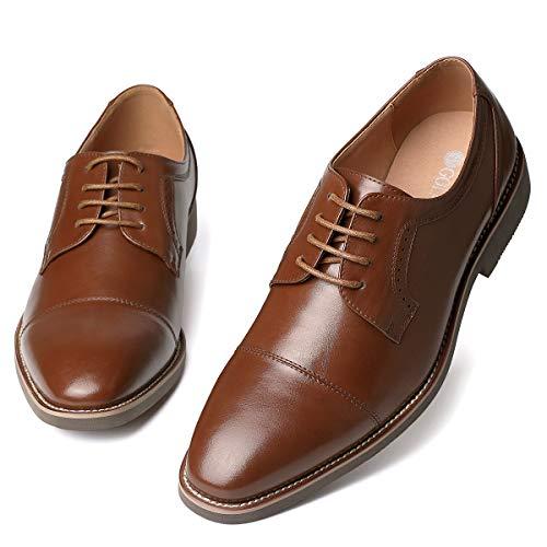 GM GOLAIMAN Men's Dress Shoes - Classic Lace Up Derby Shoes Cap Toe Bluchers Brown 13 ()