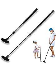 Dapuly Golfputter, bärbar tvåvägs vänster- och högerhänt golfklubbor putter infällbart reseputter med rostfritt stålskaft golf träningshjälpstillbehör för män och barn