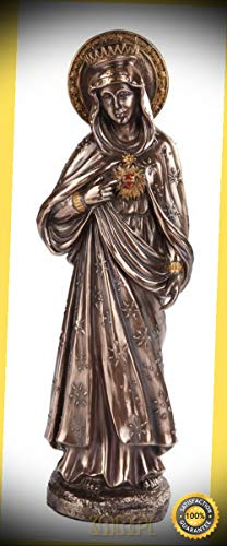 Gods Will Tile (KARPP Immaculate Heart of Mary Statue Blessed Virgin Purity Compassion Beauty of Soul Premium Decor Indoor Collectible Figurines)