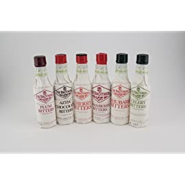 Fee Brothers Bar Cocktail Bitters - Series II- Set of 6 5 Made by Fee Brothers of Rochester, New York. Includes 6 hand selected 5-ounce bottles. Cherry and Aztec Chocolate Bitters.