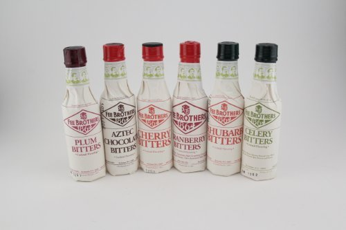 Fee Brothers Bar Cocktail Bitters - Series II- Set of 6 1 Made by Fee Brothers of Rochester, New York. Includes 6 hand selected 5-ounce bottles. Cherry and Aztec Chocolate Bitters.