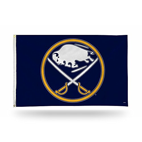 Rico Industries NHL Buffalo Sabres 3-Foot by 5-Foot Single Sided Banner Flag with Grommets -