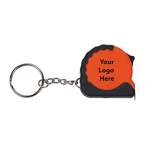 (3 1/4 Ft. Mini Grip Tape Measure Key Chain - 150 Quantity - 1.75 Each - PROMOTIONAL PRODUCT/BULK/BRANDED with YOUR)