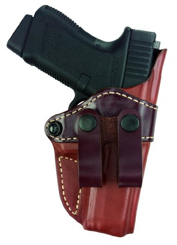 Gould & Goodrich 810-195 Gold Line Inside Pants Holster (Chestnut Brown) Fits most full-size 1911-type pistols with 4.75 in. to 5.0 in. bbl incl. BROWNING Hi-Power; COLT Delta, Elite, Gold Cup, Gov't, 1911A1; KIMBER Custom, Target, Gold Match, Royal; PARA-ORDNANCE P14 .45, P16 .40; SPRINGFIELD 1911A1; WILSON CQB