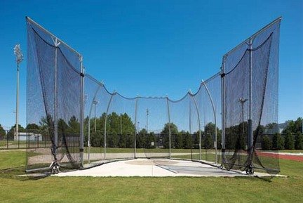 8' Barrier Net for NCAA Double Ring Hammer / Discus Cages by Gill Athletics