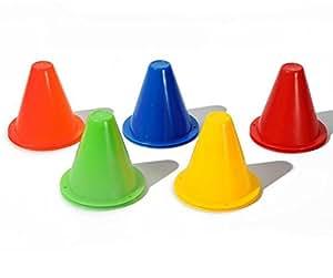 Arbre 10 piezas de conos Slalom Sporting Roller Skating Pile Obstacle (color al azar)